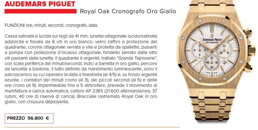 Cronografi meccanici: Audemars Piguet Royal Oak