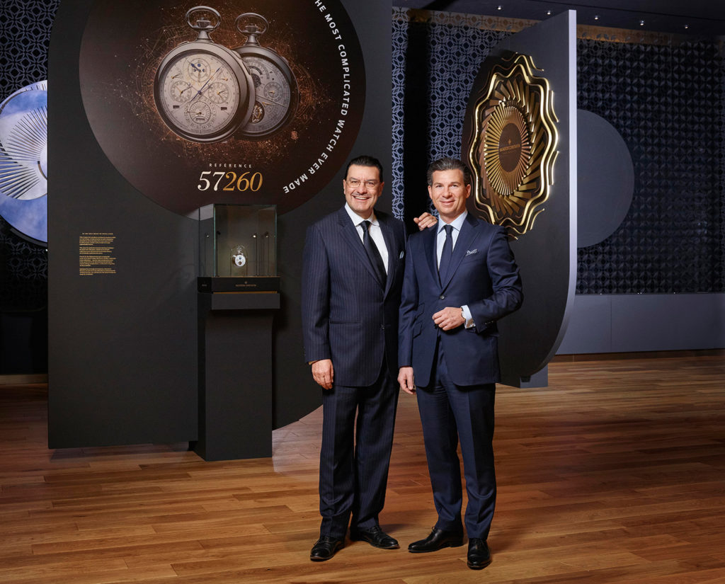 Mr Juan Carlos Torres CEO of Vacheron Constantin & Mr Louis Ferla, General Manager Sales & Marketing of Vacheron Constantin. SIHH2017