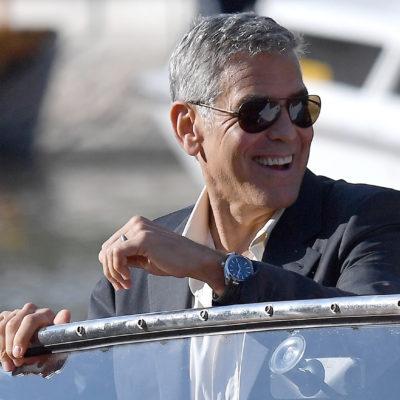 George Clooney a Venezia con il nuovo OMEGA Seamaster Aqua Terra