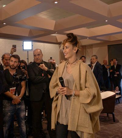 Nina Zilli con Rosato a VicenzaOro