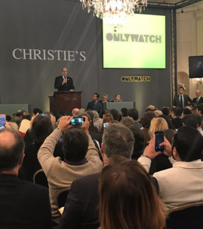 Oltre 9 milioni di euro all'asta benefica di Only Watch