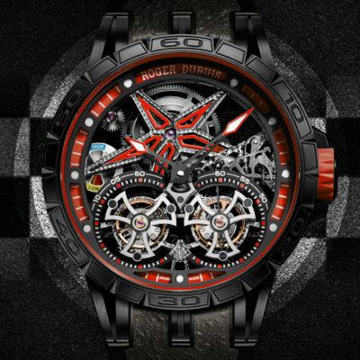 Roger Dubuis: Excalibur Spider Pirelli doppio tourbillon volante